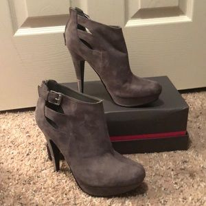 Guess gray booties
